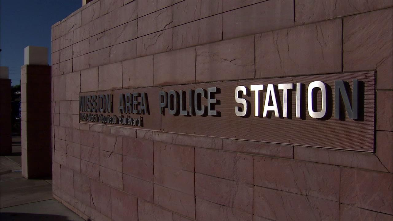 The LAPDs Mission Community Police Station is seen in this undated file photo.