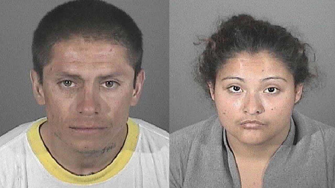 Eddie Vasquez (left), 32, and Nancy Carrillo (right), 22, were arrested Wednesday, Nov. 14, 2012 in Altadena.