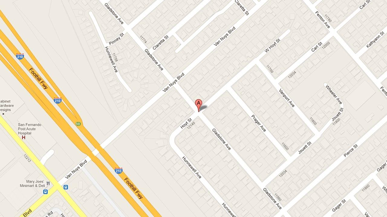 A map indicates the area in the 11700 block of Gladstone Avenue in Los Angeles where 32-year-old Leticia Turrubiates was found dead on March 16, 2000. Jose Espinoza was arrested on Thursday, Nov. 15, 2012 in connection with her murder.