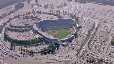 An aerial view shows Dodger Stadium in this undated file photo.