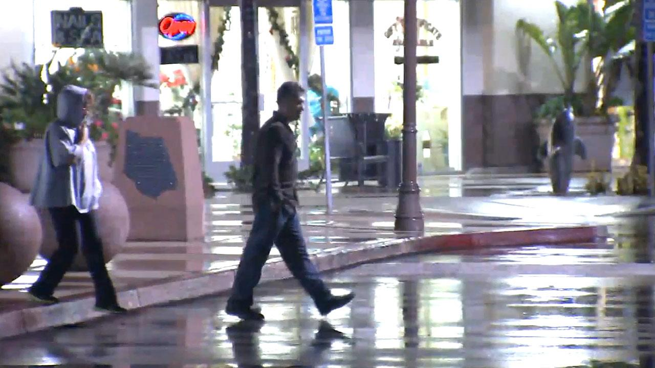 A rainy day in Southern California on Wednesday, Dec. 12, 2012.