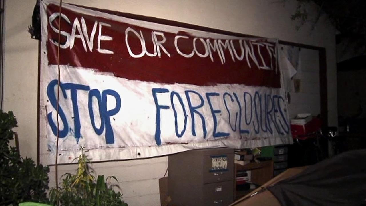 An eviction operation was held Thursday, Dec. 27, 2012, at a Van Nuys house that is at the center of an Occupy protest.