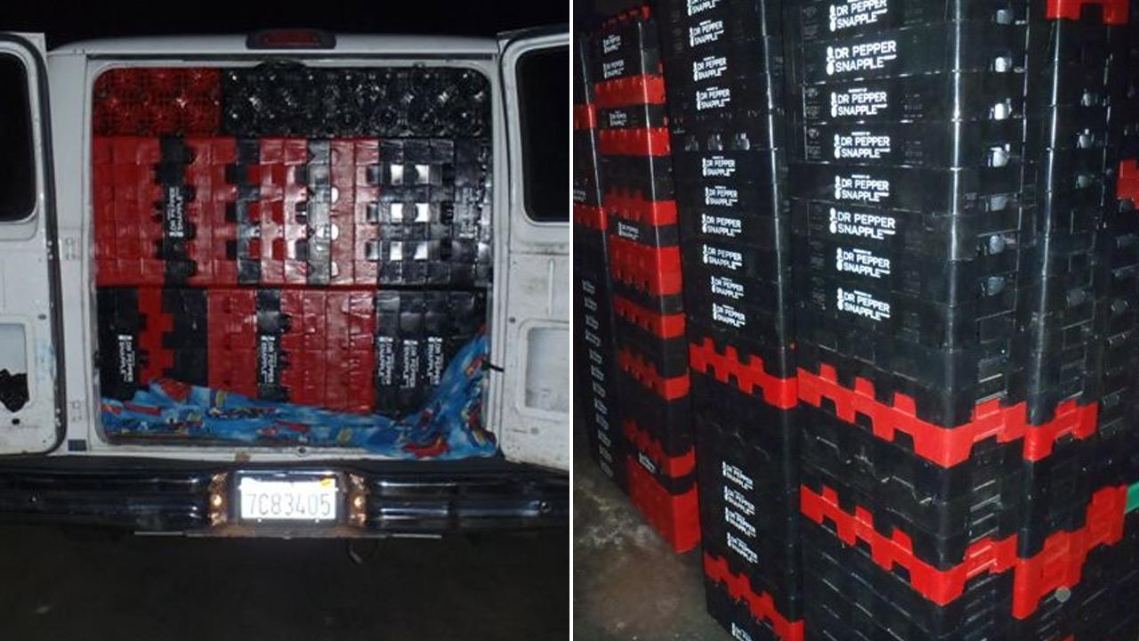 More than $115,000 worth of stolen plastic products were discovered by task force investigators in South El Monte and Lynwood on Wednesday, Jan. 2, 2013.