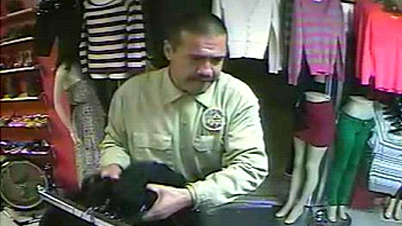 A man, seen in this surveillance footage still image, is wanted for stealing clothes from a store in the 1200 block of South Lorena Street on Monday, Dec. 17, 2012.