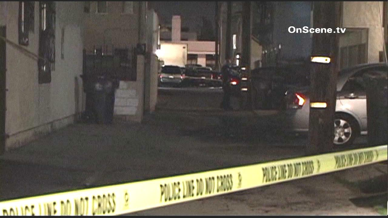 A suspected burglar was shot and wounded by Long Beach police after he allegedly pulled out a handgun during a confrontation on Monday, Jan. 7, 2013.