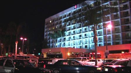 Police respond to the scene of a standoff at a Motel 6 located in the 5100 block of Century Boulevard in Inglewood on Friday, Jan. 18, 2013.