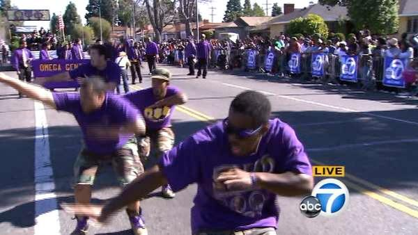 Omega Gents wows with stomp routine