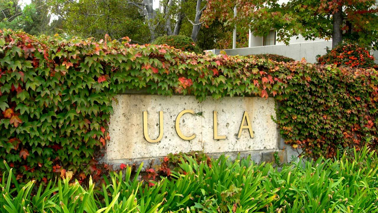 File photo of a sign on the University of California, Los Angeles, campus.