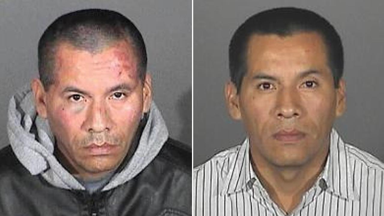 Jose Felix, 40, of Victorville is shown in booking photos provided by the Downey Police Department.
