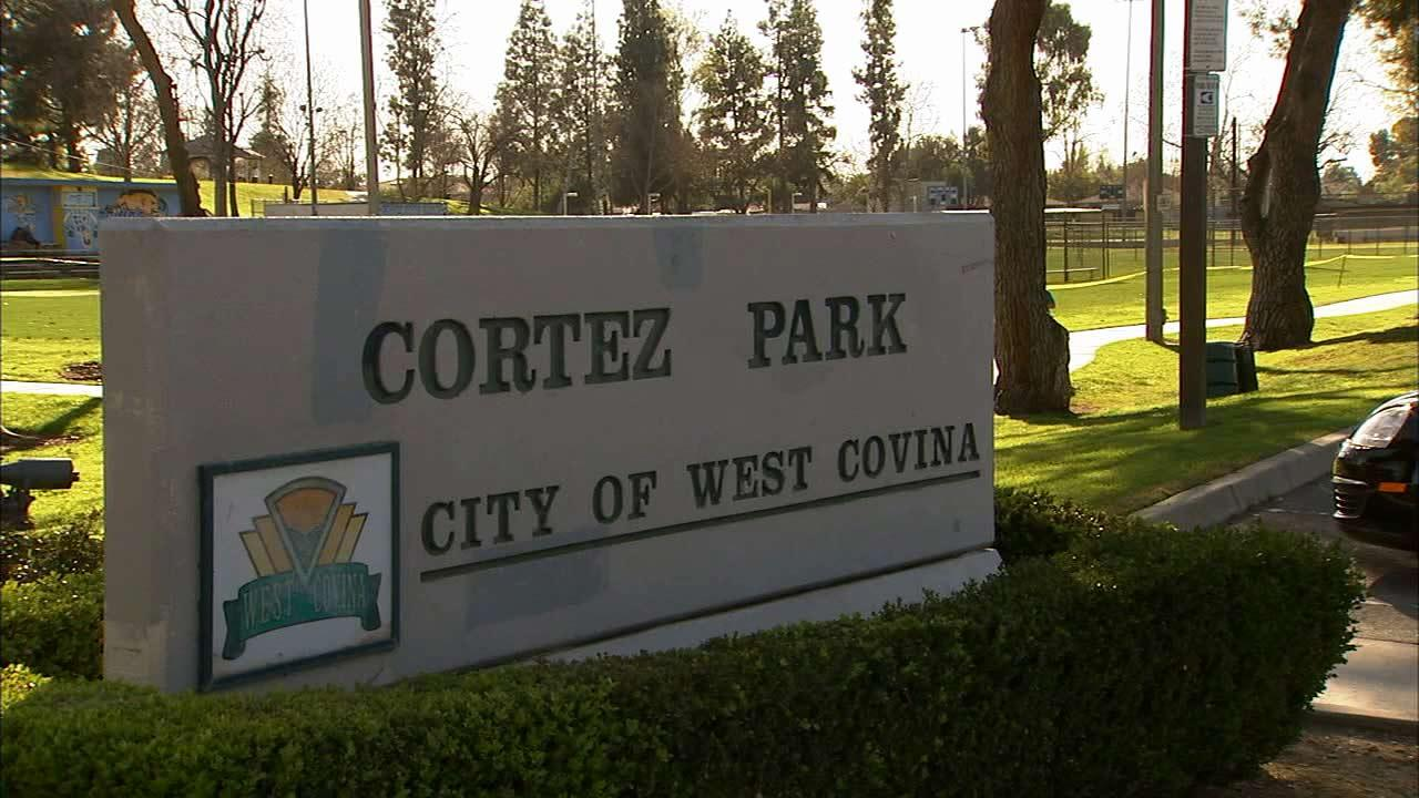A sign at Cortez Park, located at 599 South Citrus Avenue in West Covina, is seen in this undated file photo.