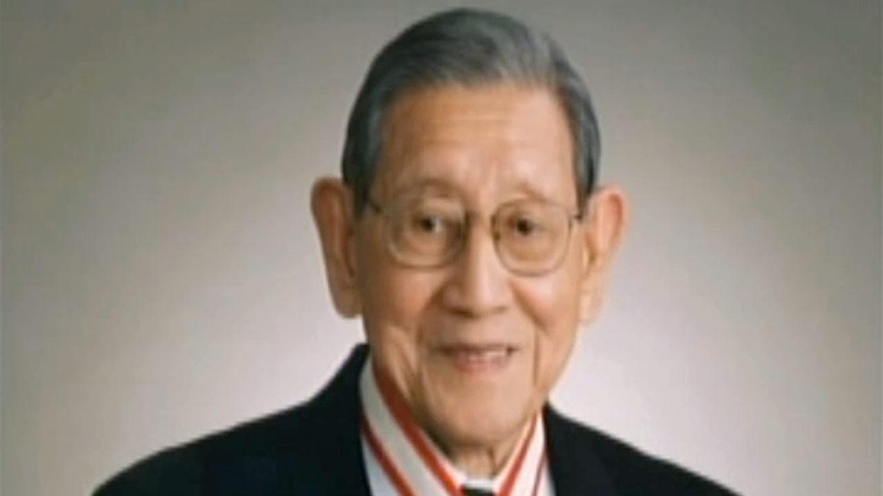 Undated file photo of George Aratani, a Japanese-American businessman and philanthropist.