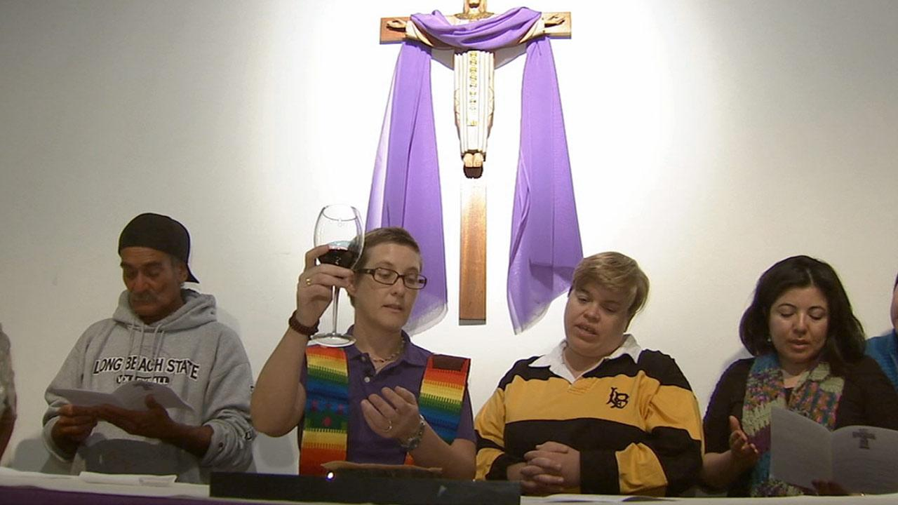 Jennifer OMalley, second from left in this photo from March 2013, is one of the most recent women to defy church law and calls herself a woman priest.