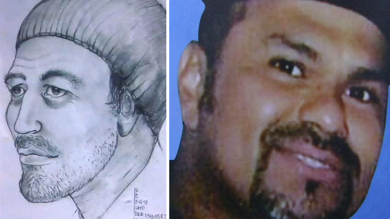 A $50,000 reward is being offered to track down a man suspected of shooting and killing Ruben Medina (right) on a South Los Angeles street Feb. 4.