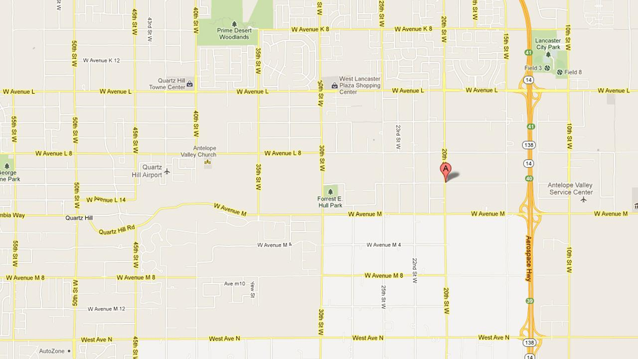 A map indicates the location where deputies responded to an assault report in the 42200 block of 20th Street West on Friday, April 5, 2013.