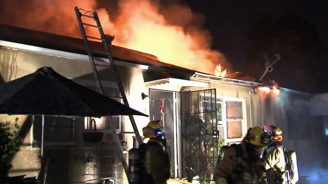 A fire broke out at an apartment building on the 1000 block of South San Gabriel Boulevard on Friday, May 17, 2013.