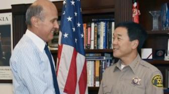 Los Angeles County Sheriff Lee Baca (left) and Undersheriff Paul Tanaka in an undated file photo.