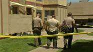 Deputies investigate on Thursday, May 23, 2013, at the Palmdale apartment where an 8-year-old boy was found unconscious.
