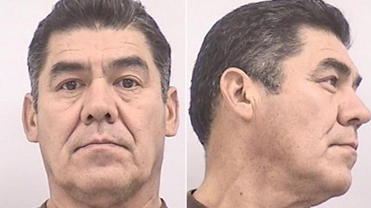 Los Angeles attempted murder suspect Miguel Sanchez, 59, was arrested in Colorado for urinating on a wall outside a KFC restaurant on Wednesday, May 22, 2013.