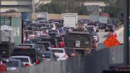 Traffic is seen on the 405 Freeway in West Los Angeles in this undated file photo.