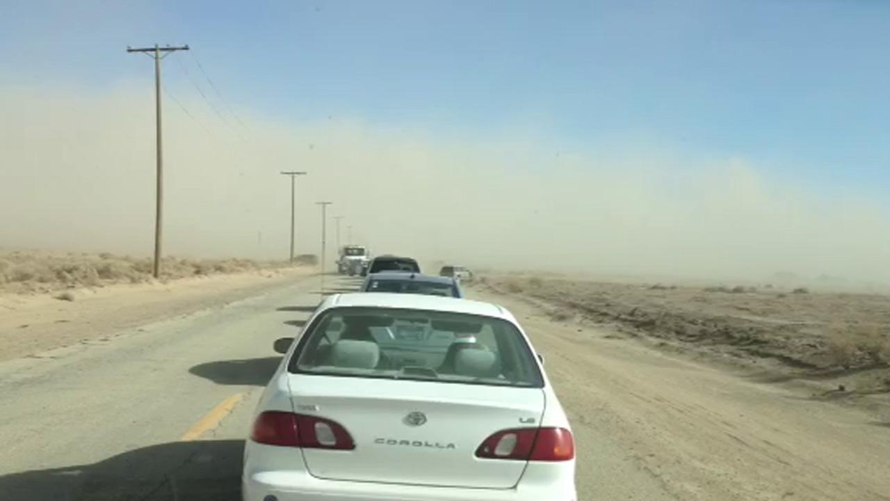 A dust storm is seen in the Lancaster area in this photo taken by an ABC7 viewer on Tuesday, May 28, 2013.
