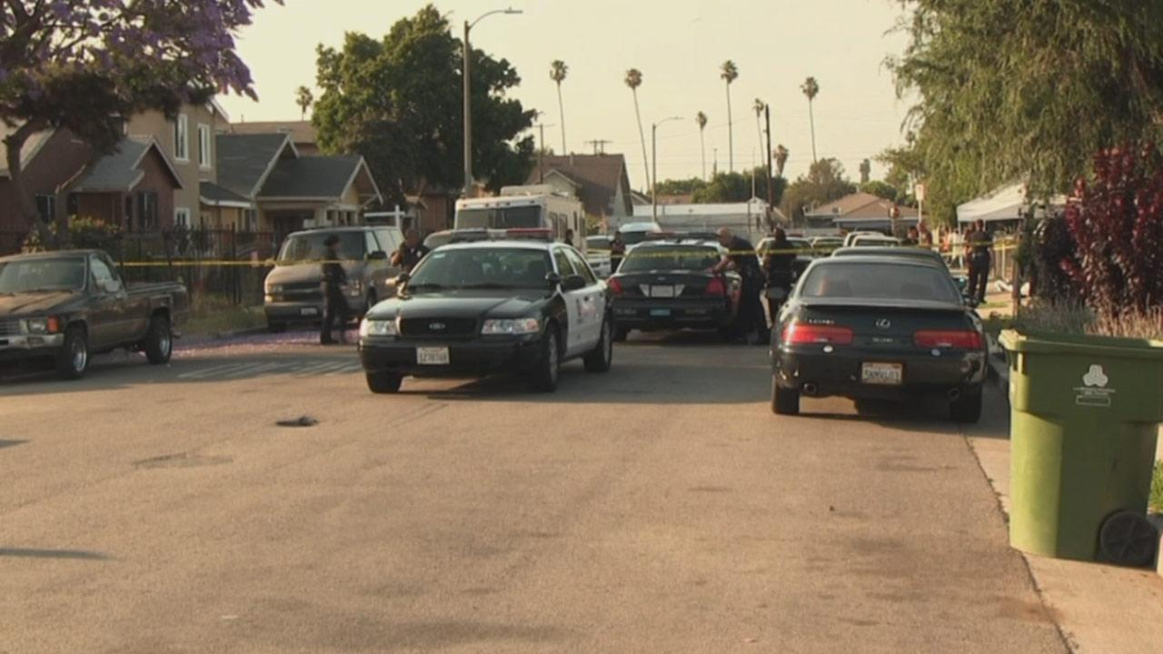 A man was shot and killed in a drive-by shooting in South Los Angeles on Sunday, June 2, 2013.