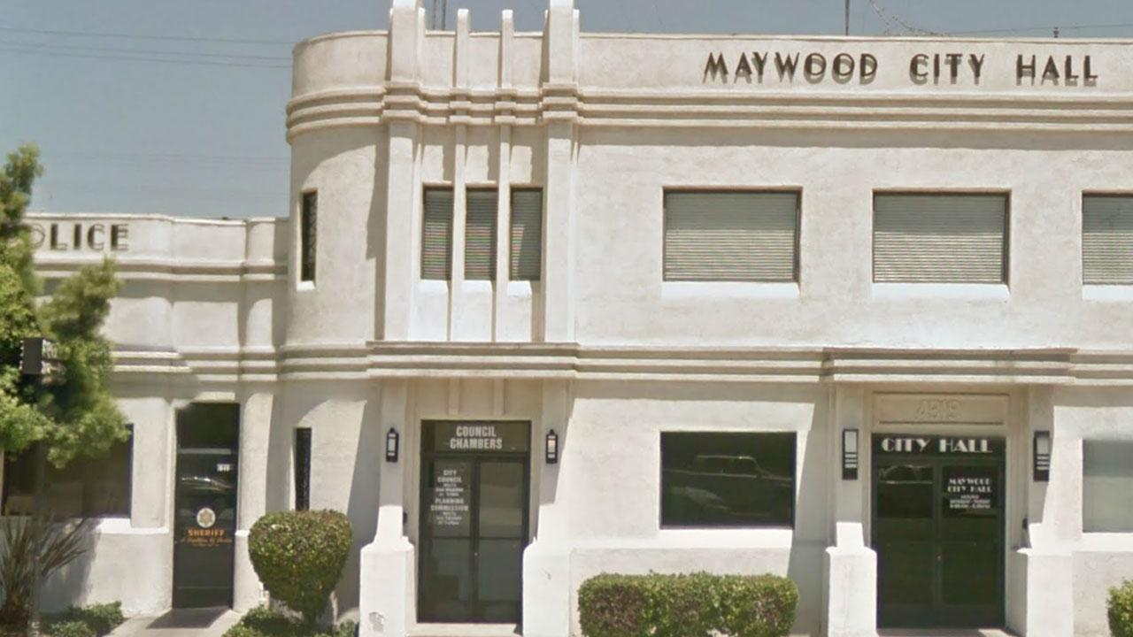 Maywood City Hall and Police Dept., 4319 Slauson Ave, Maywood, Calif. 90270
