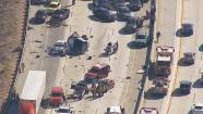 A multiple-vehicle crash shut down lanes of the Antelope Valley Freeway Monday, June 17, 2013.