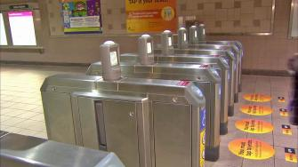 Metro turnstiles at Union Station are shown in this undated file photo.