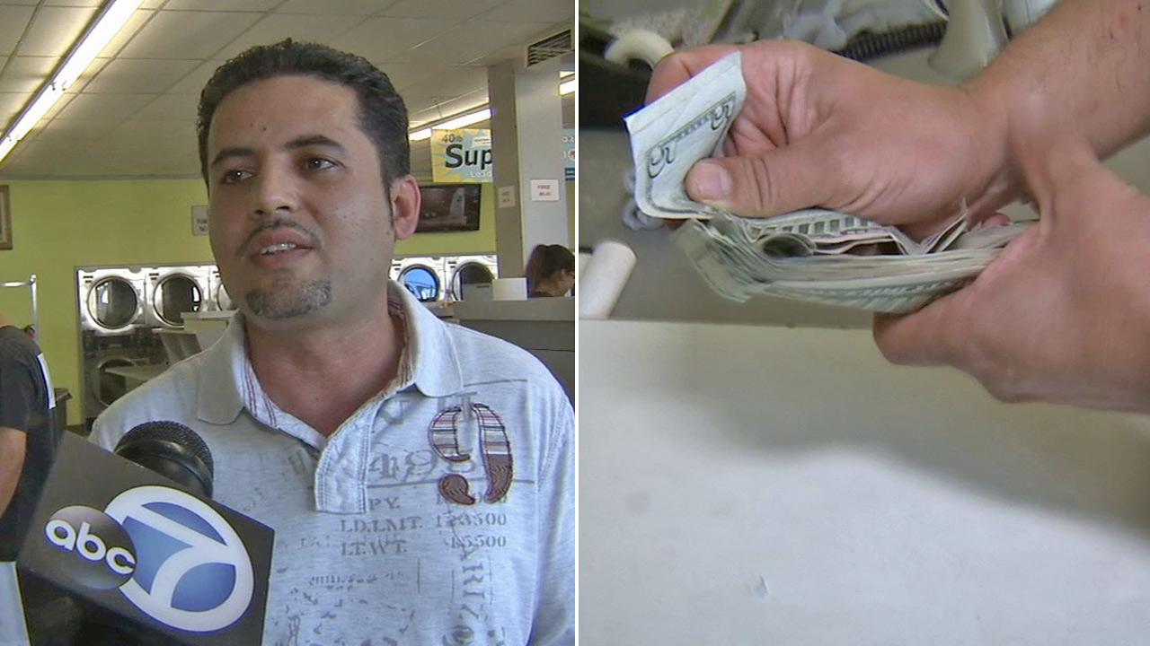 Joy Land Coin Laundry owner Mohammad Sadozai talks to Eyewitness News about finding $655 in the pocket of a piece of clothing.