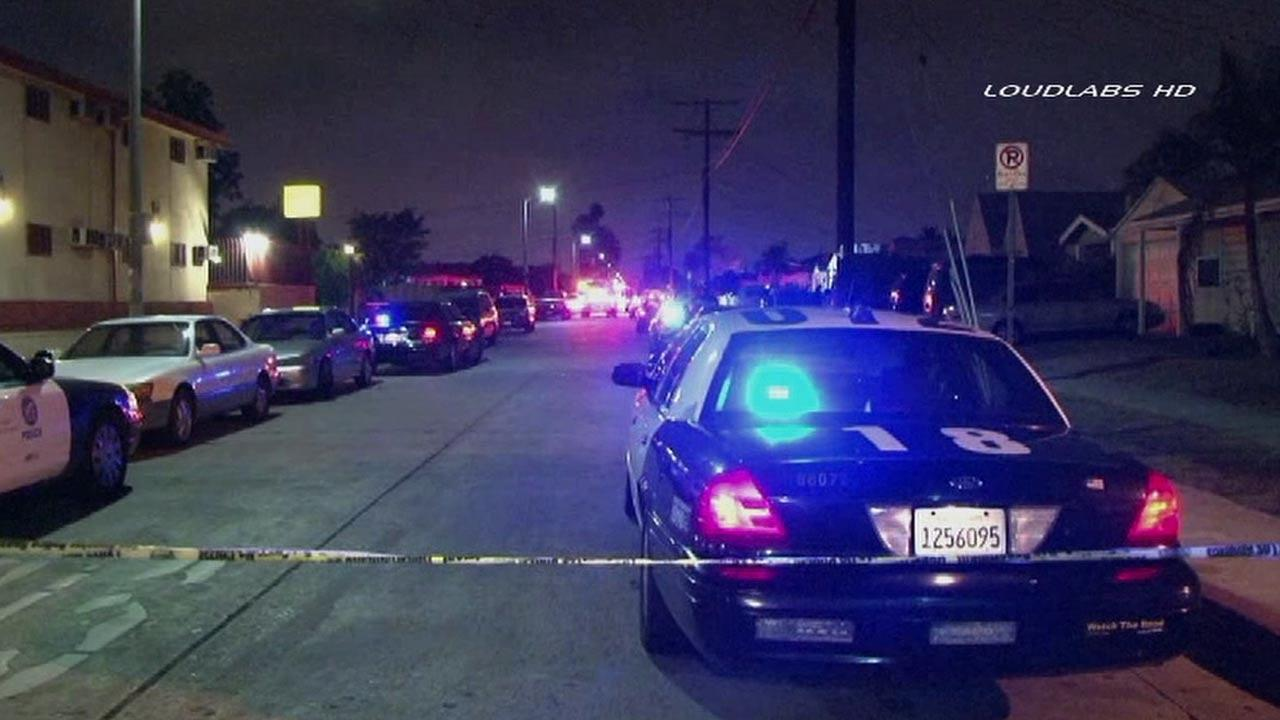 A 26-year-old woman was killed following an apparent drive-by shooting in the 500 block of 95th Street in South Los Angeles Friday, July 19, 2013.