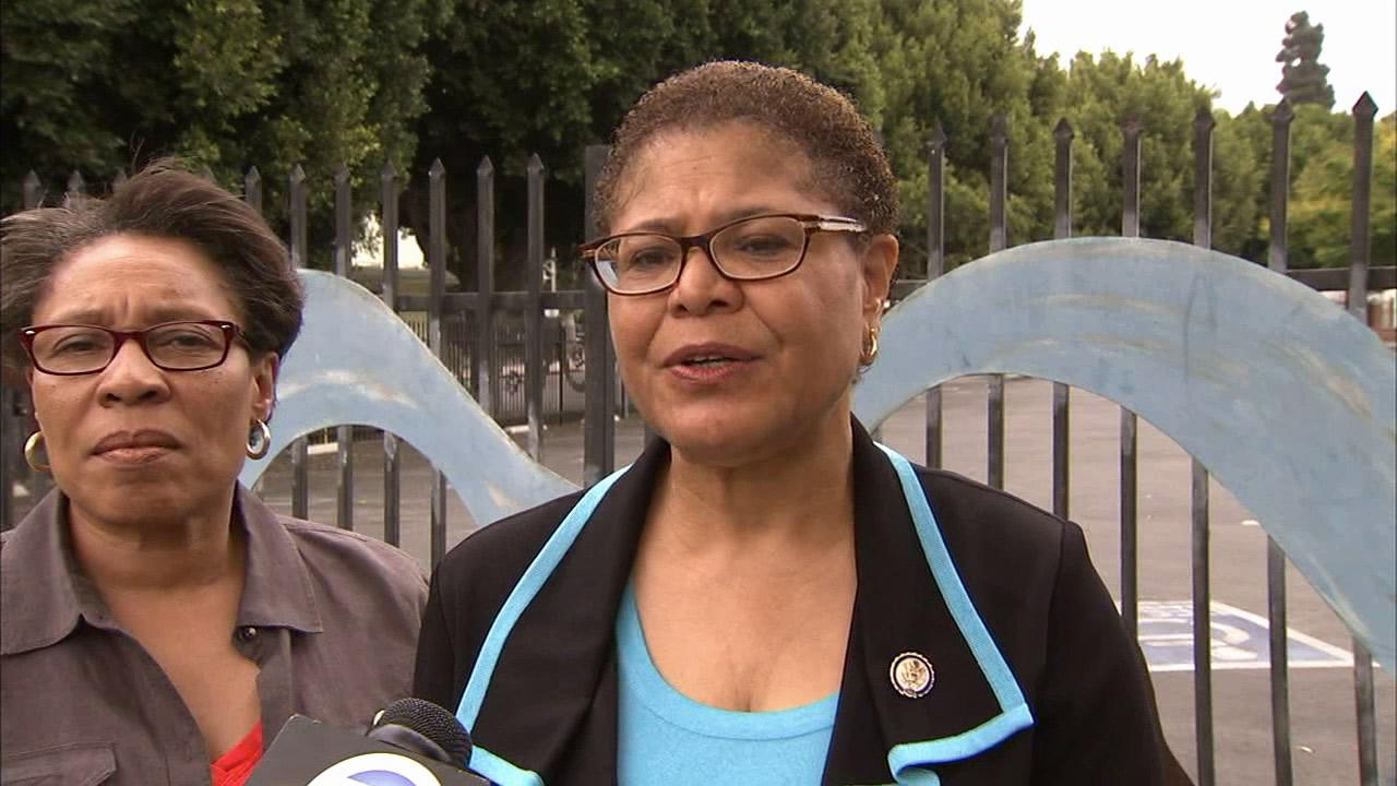 Rep. Karen Bass (D-Los Angeles) speaks to Eyewitness News on Saturday, July 20, 2013.
