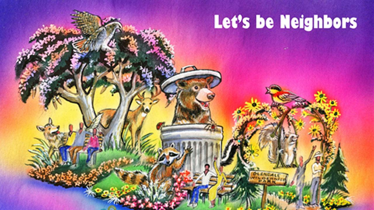 An artist rendering shows Glendales plan for the 2014 Tournament of Roses Parade.