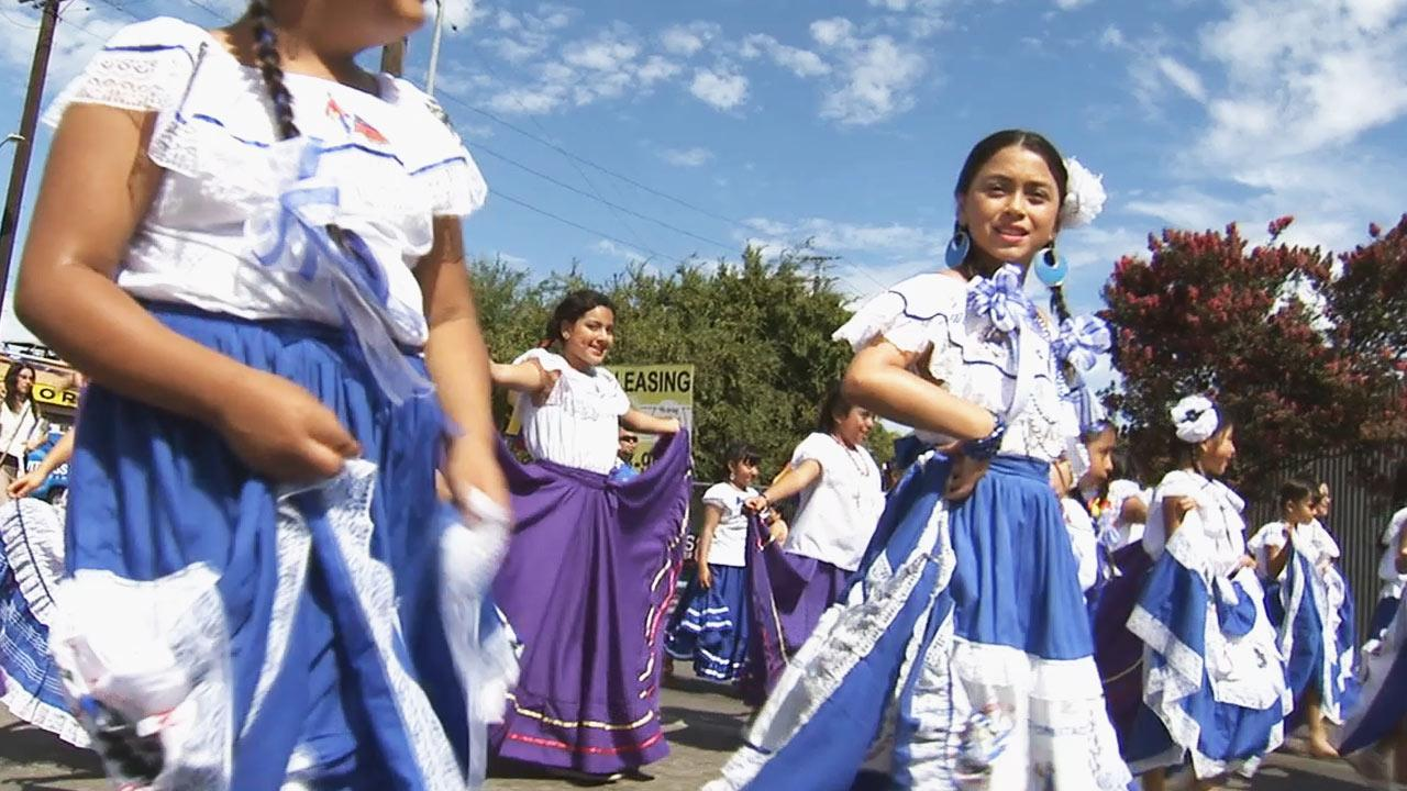The annual Salvadoran Independence Day Parade took place in East Hollywood on Santa Monica Boulevard Sunday, September 1, 2013.