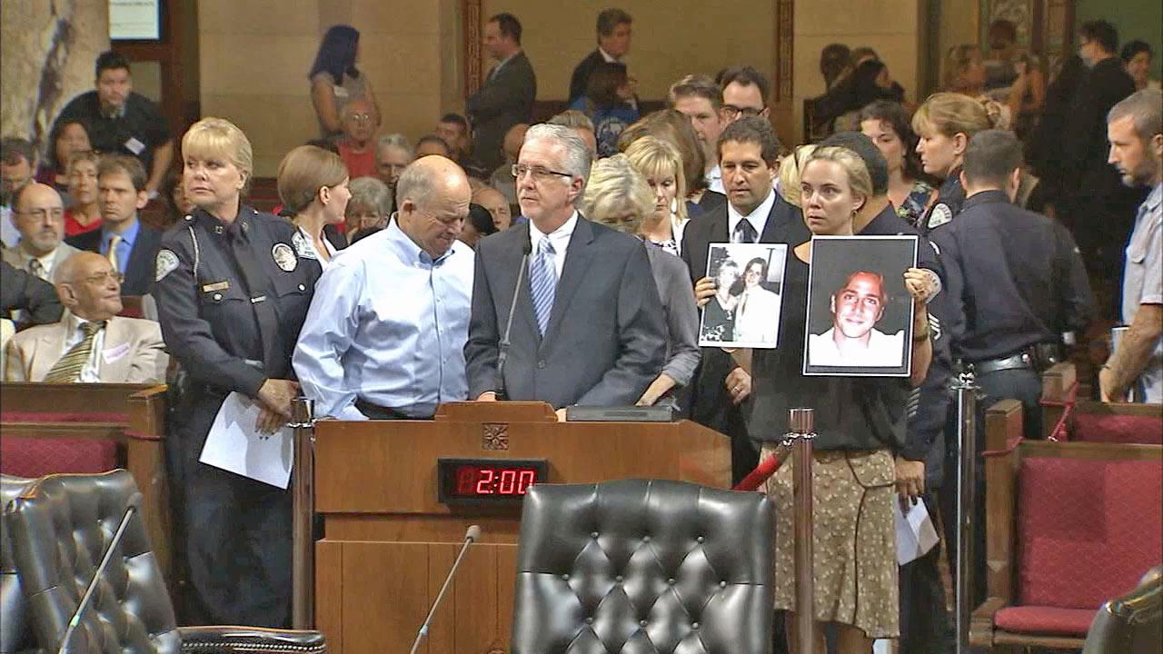 The Los Angeles City Council unanimously approved a $50,000 reward Wednesday, Sept. 4, 2013,  to help catch the hit-and-run driver who killed a man in Studio City.