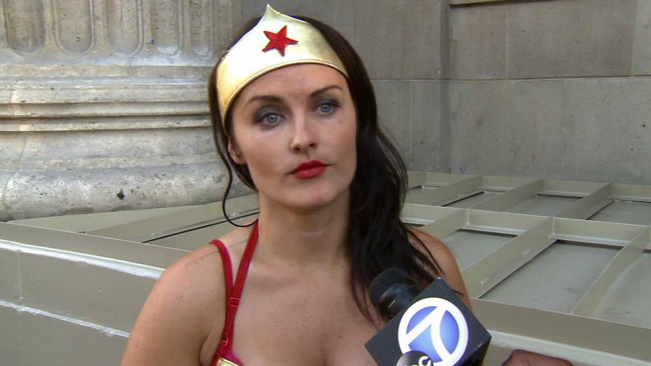 Jennifer Wonder Woman Wenger talks to Eyewitness News on Friday, Sept. 06, 2013.