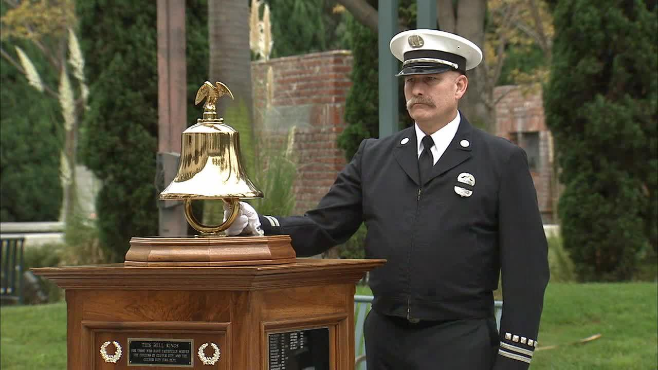 Culver City held a special ceremony Wednesday, Sept. 11, 2013, at the City Hall courtyard to honor those killed in the 9/11 terrorist attacks.