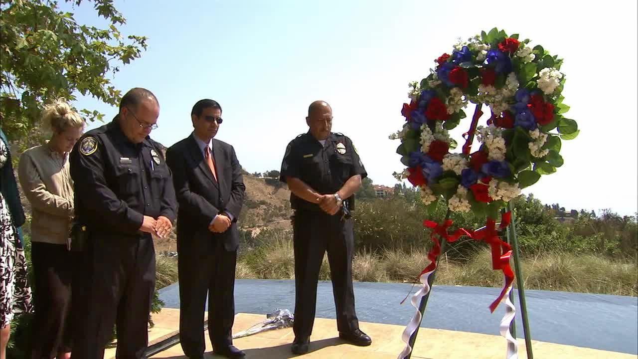 Students, staff, faculty and friends gathered at the Thomas Burnett Heroes Garden on Pepperdine Universitys Malibu campus to honor those whose lives were lost on Sept. 11, 2001.