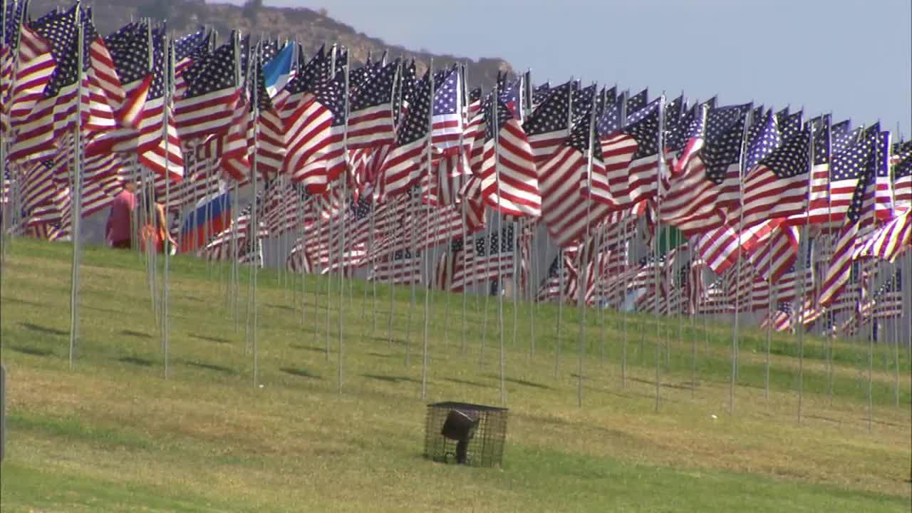 For the sixth year in a row, Pepperdine University has staged its Waves of Flags display on Alumni Park lawn to honor the victims of the September 11, 2001, terrorist attacks.