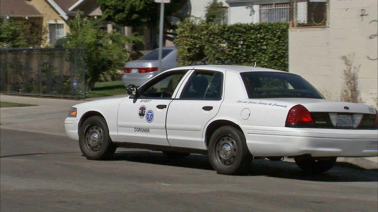 The body of a 74-year-old man was found near 37th Street and Western Avenue in South Los Angeles on Sunday, Oct. 6, 2013.