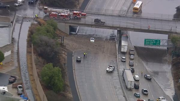 5 Fwy reopens in Sun Valley after mudslide