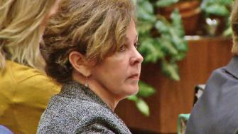 Former Bell Assistant City Manager Angela Spaccia appears in court on the first day of her public corruption trial on Wednesday, Oct. 23, 2013.