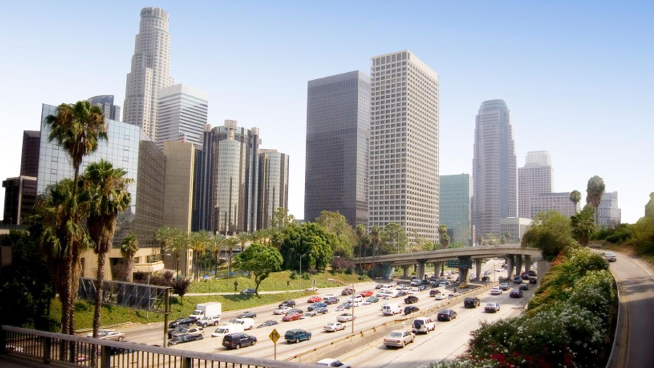 Downtown Los Angeles is shown in this undated file photo.