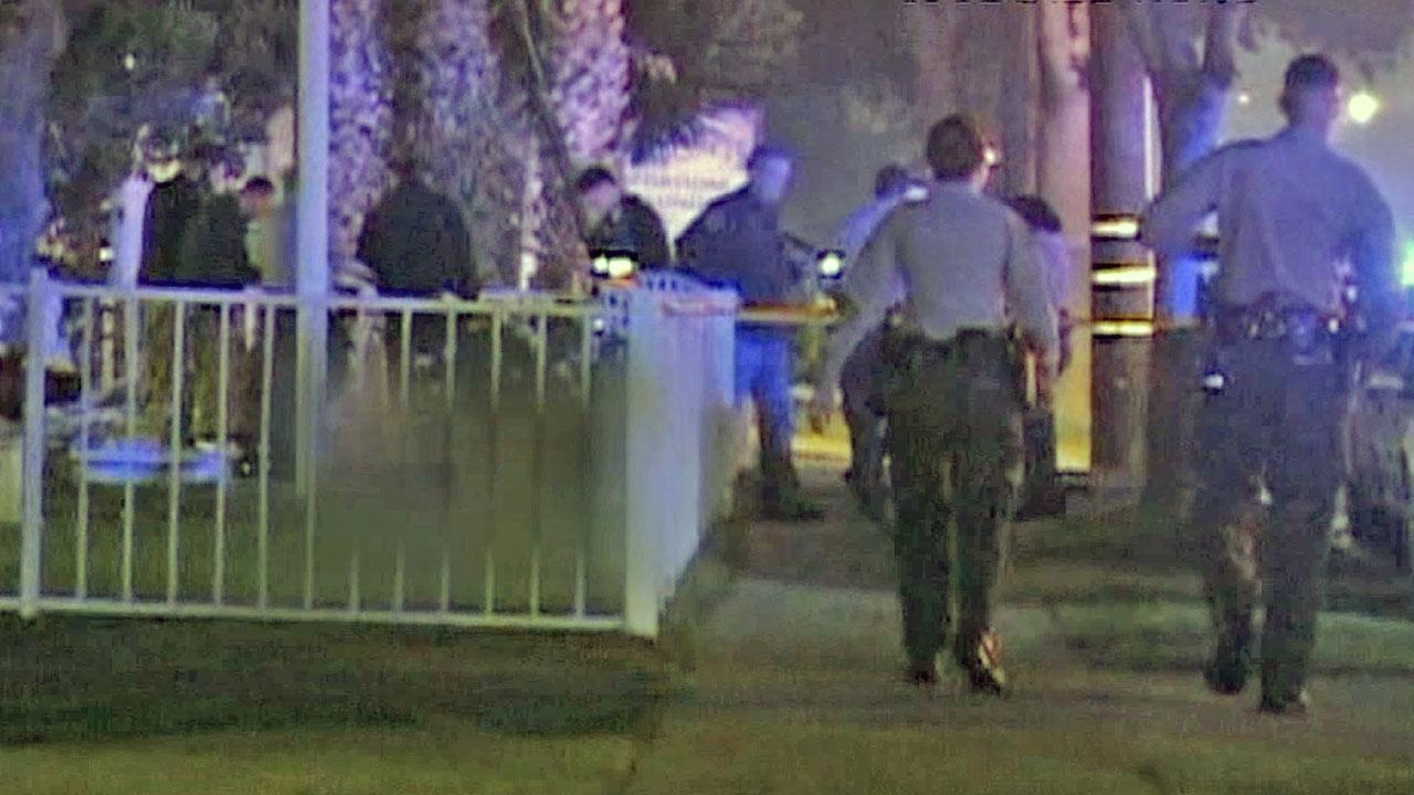 A man was fatally shot by a sheriffs deputy in Bellflower during a fight early Sunday morning, October 27, 2013.