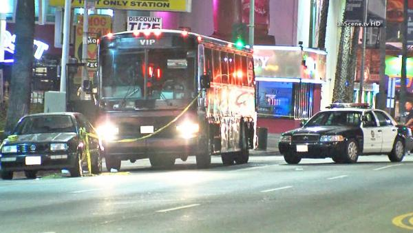 Hollywood party bus shooting was gang related