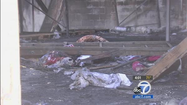 Burglary suspect found dead in burned LA building