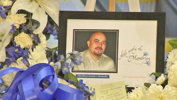 TSA officer's memorial to draw thousands