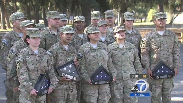 El Monte honors return of 18 soldiers