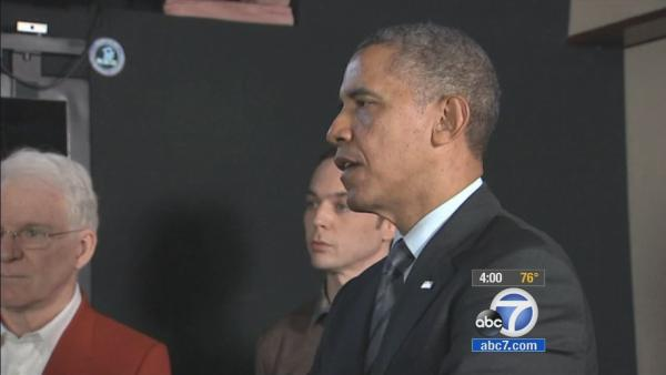 Obama talks nation's economy at DreamWorks