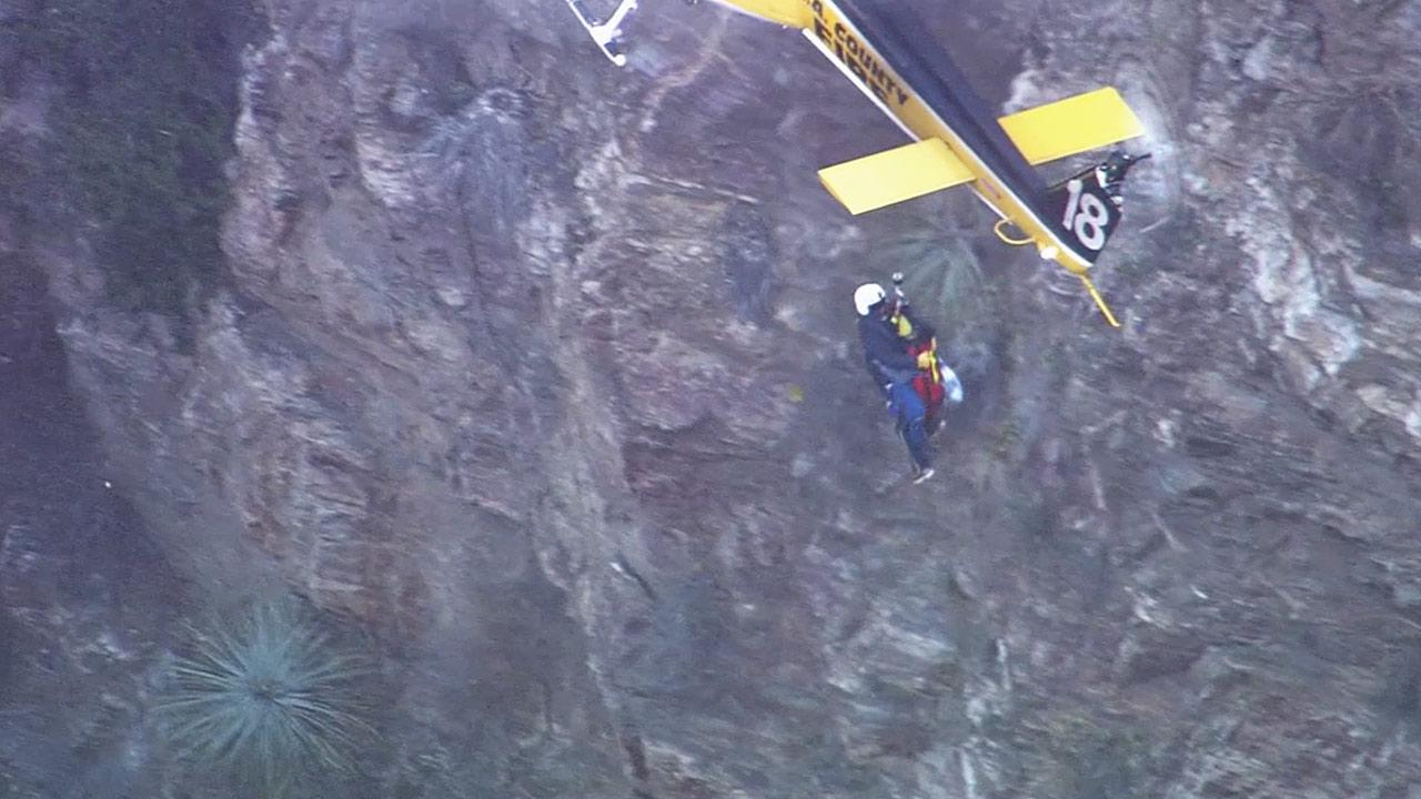 A 19-year-old Pasadena City College student who got lost in the Eaton Canyon area was found and rescued on Friday, Dec. 6, 2013.