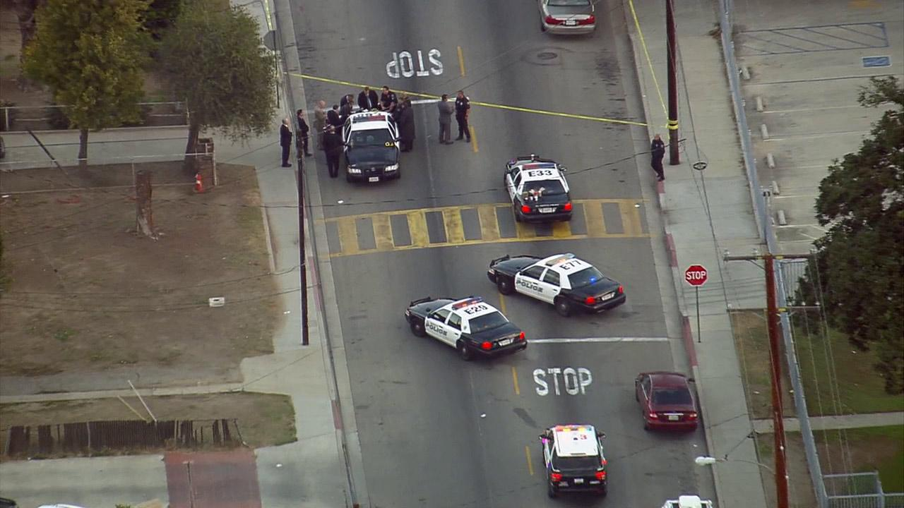 An investigation is underway after El Monte police officers shot and wounded a suspect Friday, Dec. 6, 2013.